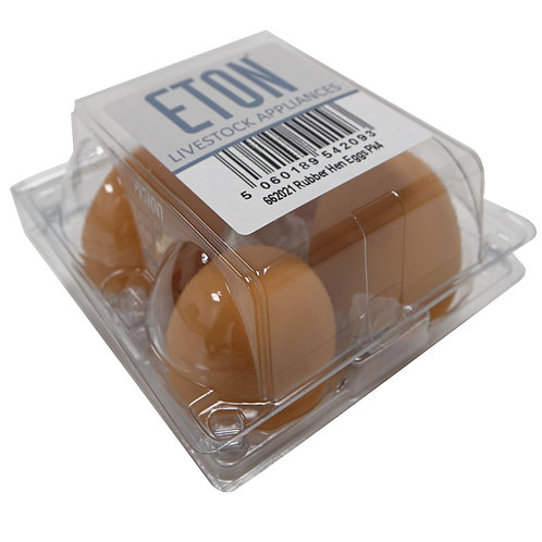 Eton Rubber Hen Eggs - 4 Pack