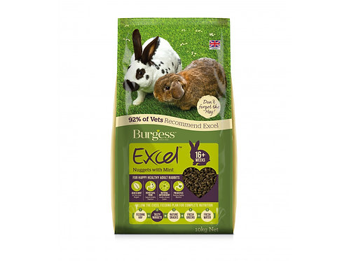Burgess Excel 10kg Mint Nuggets 16 weeks +