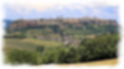 Distant view of Orvieto, Umbria.