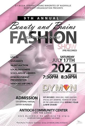 Flyer_ 9th Annual Beauty & Brains Fashio