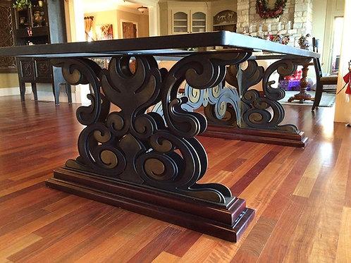 Metal iron table