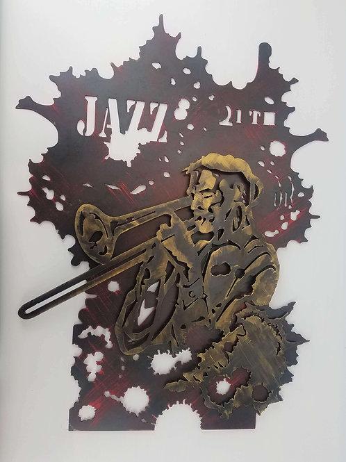 ARTTIG Wonderful wall sculpture musician cut from metal