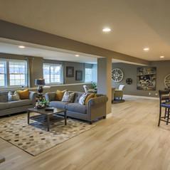plote custom home basement 2