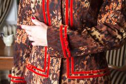 Flokkolt bársony Csini Chanel blézer