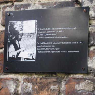 Commemorative plaque Ghetto wall