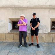 Anton and Alex in Krakow