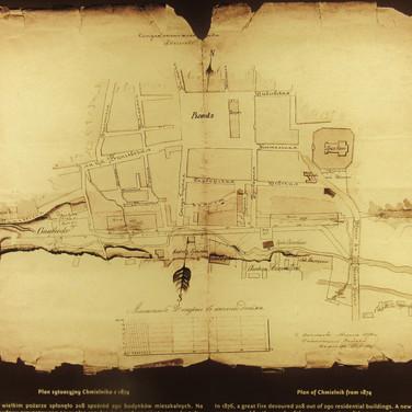 Plan of Chmielnik from 1874