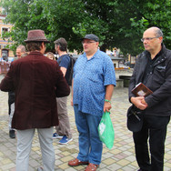 In the main square with Piotr Krawczyk