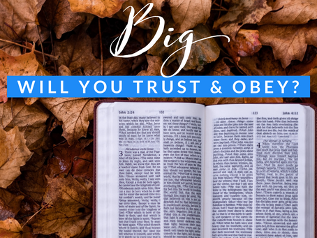 When God lays something on your heart, do you obey or turn away?
