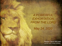 Powerful Exhortation From the Lord