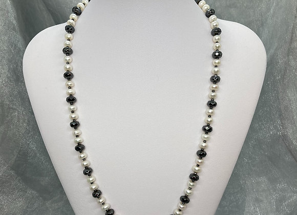 Freshwater Pearls with Hematite
