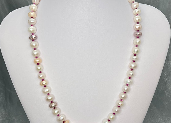 Freshwater Pearls with Garnet