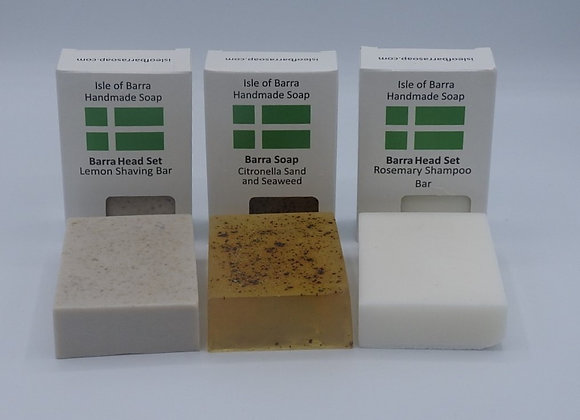Shampoo Bar, Shaving Bar and Barra Soap