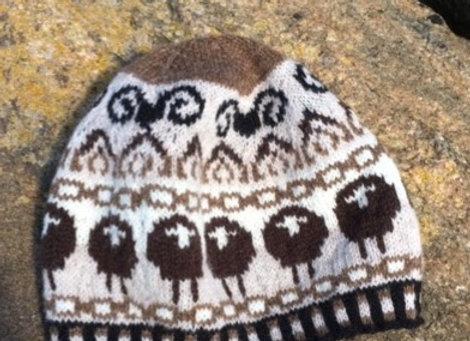 FairIsle style sheep hat