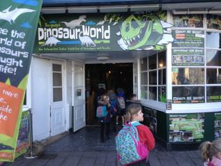 Class 1 visited Torquay's Dinosaur World