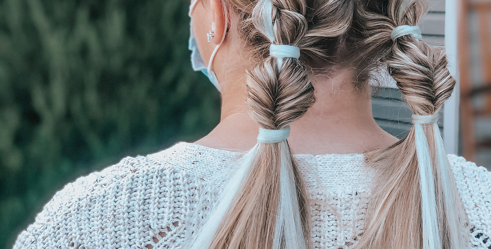 add a pop of color to your braid (15 minutes)