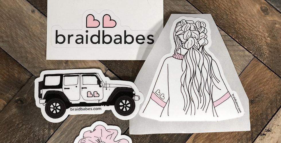braidbabe sticker pack ♡ ♡