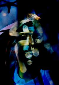 Blue Man in Darkness