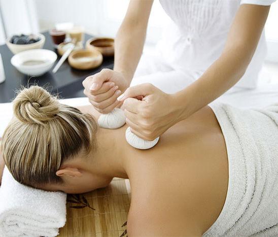 Hot Herbal Massage