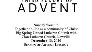 Sunday 12/13/20 Bulletin