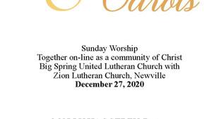 12-27-20 Bulletin