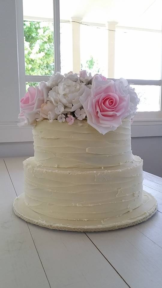 roses and peonies rustic