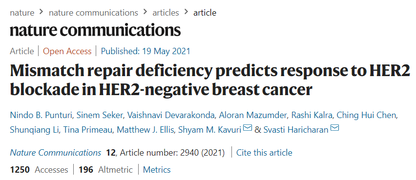 First paper from the Haricharan Lab is out!!!