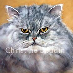 Persan 4  Peinture de l'artiste Christine Boudin