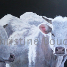 Les petits jeunes  Peinture de l'artiste Christine Boudin