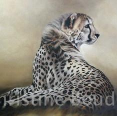 guepard  Peinture de l'artiste Christine Boudin