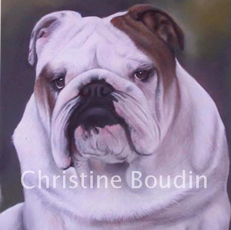 HOMER  Peinture de l'artiste Christine Boudin