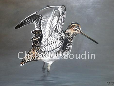 Bécassine 2  Peinture de l'artiste Christine Boudin