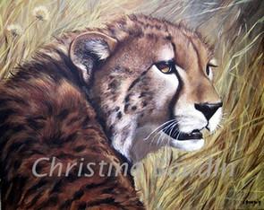 Guépard 8  Peinture de l'artiste Christine Boudin