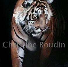 Tigre 7  Peinture de l'artiste Christine Boudin