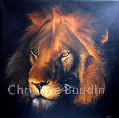 lion3  Peinture de l'artiste Christine Boudin