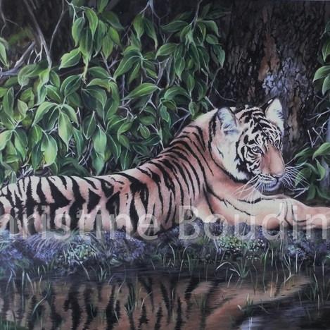 Repos  Peinture de l'artiste Christine Boudin
