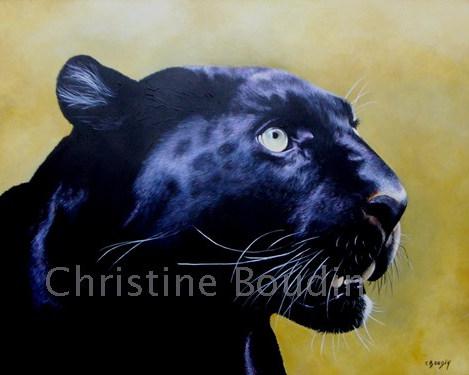 Panthère 2  Peinture de l'artiste Christine Boudin