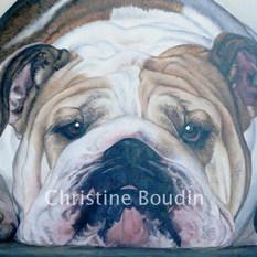 Ebony  Peinture de l'artiste Christine Boudin