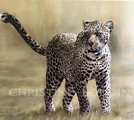 Léopard 1 Peinture de Christine Boudin