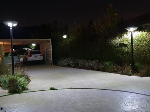 תאורה רחוב סולארית עמודי תאורה