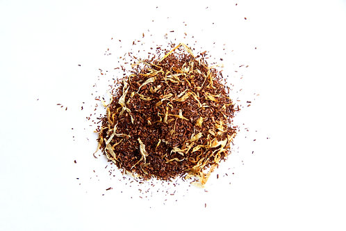 caramel flavoured south African naturally decaffeinated Rooibos red tea