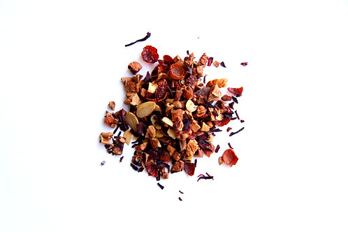 nutty cocoa bean fruit tea blend