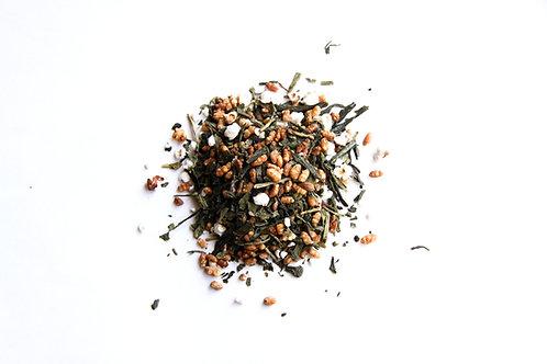 popped fried rice green tea