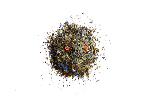 butterfly blue pea flower fruity green tea blend
