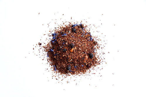 Canadian blueberry flavoured south African naturally decaffeinated Rooibos red tea