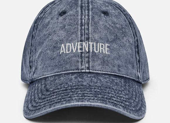 Adventure Vintage Cotton Twill Cap