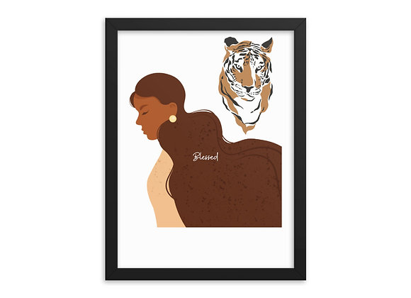 Highly Blessed & Favored Framed poster