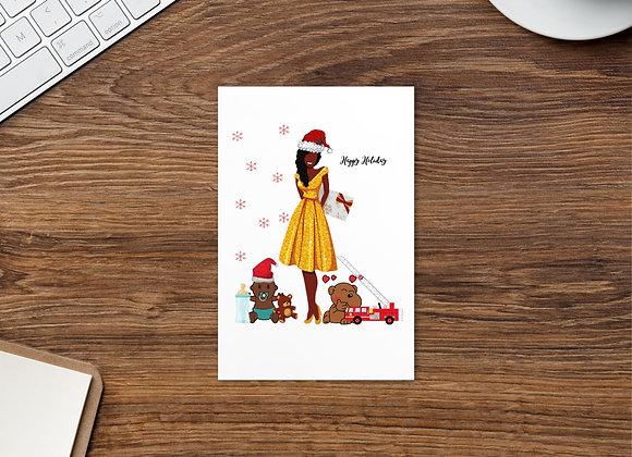 Family Christmas Standard Postcard