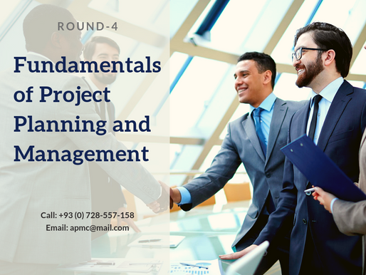 Fundamentals of Project Planning and Management - Round 4