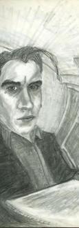 Kafkaesque Self Portrait in a Convex Mirror
